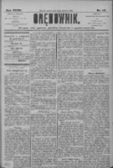 Orędownik: pismo dla spraw politycznych i społecznych 1906.06.23 R.36 Nr141