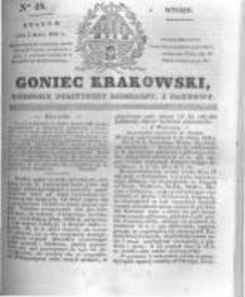 Goniec Krakowski: dziennik polityczny, liberalny i naukowy. 1831.03.01 nr48