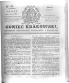 Goniec Krakowski: dziennik polityczny, liberalny i naukowy. 1831.03.02 nr49