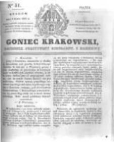 Goniec Krakowski: dziennik polityczny, liberalny i naukowy. 1831.03.04 nr51
