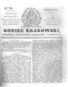 Goniec Krakowski: dziennik polityczny, liberalny i naukowy. 1831.03.07 nr53