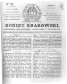 Goniec Krakowski: dziennik polityczny, liberalny i naukowy. 1831.03.08 nr54