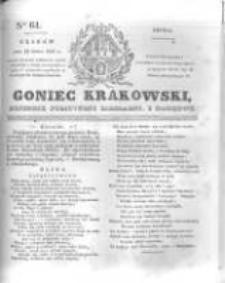Goniec Krakowski: dziennik polityczny, liberalny i naukowy. 1831.03.16 nr61