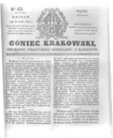 Goniec Krakowski: dziennik polityczny, liberalny i naukowy. 1831.03.18 nr63