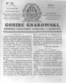 Goniec Krakowski: dziennik polityczny, liberalny i naukowy. 1831.03.30 nr72
