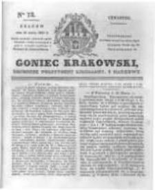 Goniec Krakowski: dziennik polityczny, liberalny i naukowy. 1831.03.31 nr73