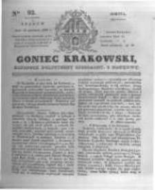 Goniec Krakowski: dziennik polityczny, liberalny i naukowy. 1831.04.23 nr92