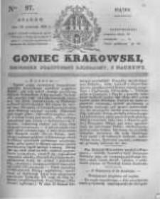 Goniec Krakowski: dziennik polityczny, liberalny i naukowy. 1831.04.29 nr97