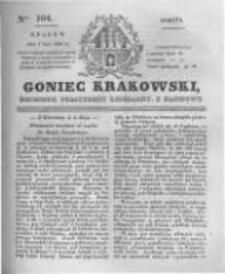 Goniec Krakowski: dziennik polityczny, liberalny i naukowy. 1831.05.07 nr104