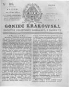 Goniec Krakowski: dziennik polityczny, liberalny i naukowy. 1831.05.13 nr108