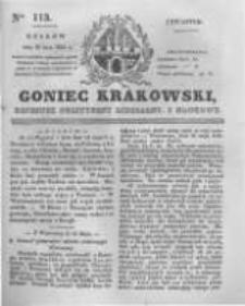 Goniec Krakowski: dziennik polityczny, liberalny i naukowy. 1831.05.19 nr113