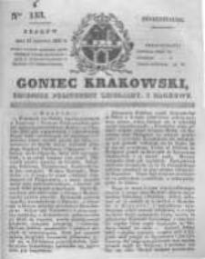 Goniec Krakowski: dziennik polityczny, liberalny i naukowy. 1831.06.13 nr133