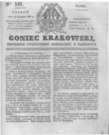 Goniec Krakowski: dziennik polityczny, liberalny i naukowy. 1831.06.17 nr137