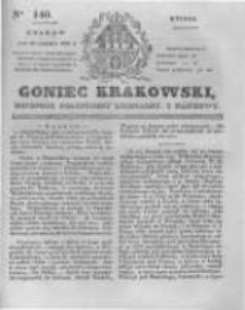 Goniec Krakowski: dziennik polityczny, liberalny i naukowy. 1831.06.21 nr140