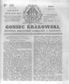 Goniec Krakowski: dziennik polityczny, liberalny i naukowy. 1831.06.22 nr141