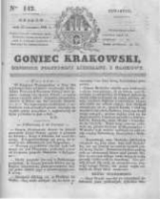 Goniec Krakowski: dziennik polityczny, liberalny i naukowy. 1831.06.23 nr142