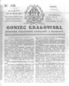 Goniec Krakowski: dziennik polityczny, liberalny i naukowy. 1831.06.24 nr143