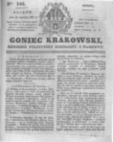 Goniec Krakowski: dziennik polityczny, liberalny i naukowy. 1831.06.25 nr144