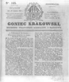 Goniec Krakowski: dziennik polityczny, liberalny i naukowy. 1831.06.27 nr145