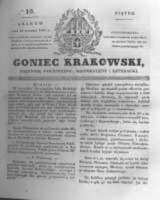 Goniec Krakowski: dziennik polityczny, historyczny i literacki. 1831.01.14 nr10