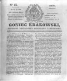 Goniec Krakowski: dziennik polityczny, liberalny i naukowy. 1831.04.02 nr75