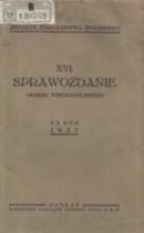 Sprawozdanie Okręgu Wielkopolskiego za rok 1937