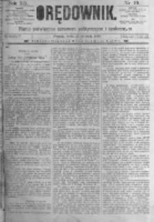 Orędownik: pismo poświęcone sprawom politycznym i spółecznym. 1889.01.23 R.19 nr19