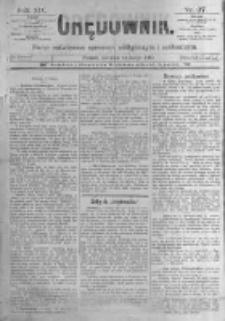Orędownik: pismo poświęcone sprawom politycznym i spółecznym. 1889.02.14 R.19 nr37