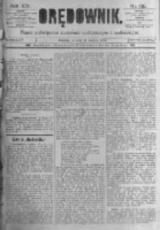 Orędownik: pismo poświęcone sprawom politycznym i spółecznym. 1889.03.19 R.19 nr65