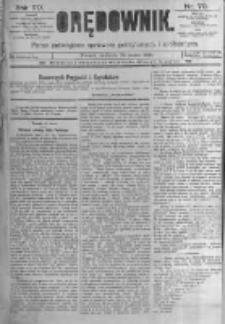 Orędownik: pismo poświęcone sprawom politycznym i spółecznym. 1889.03.24 R.19 nr70