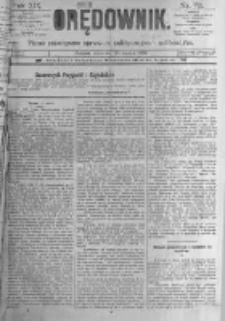 Orędownik: pismo poświęcone sprawom politycznym i spółecznym. 1889.03.28 R.19 nr72