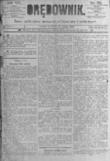 Orędownik: pismo poświęcone sprawom politycznym i spółecznym. 1889.03.31 R.19 nr75