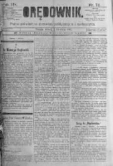 Orędownik: pismo poświęcone sprawom politycznym i spółecznym. 1889.04.02 R.19 nr76