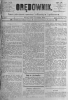 Orędownik: pismo poświęcone sprawom politycznym i spółecznym. 1889.04.03 R.19 nr77