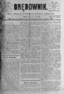 Orędownik: pismo poświęcone sprawom politycznym i spółecznym. 1889.05.15 R.19 nr111