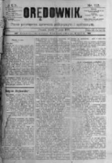 Orędownik: pismo poświęcone sprawom politycznym i spółecznym. 1889.05.17 R.19 nr113