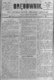 Orędownik: pismo poświęcone sprawom politycznym i spółecznym. 1889.05.19 R.19 nr115