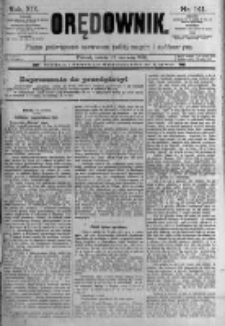 Orędownik: pismo poświęcone sprawom politycznym i spółecznym. 1889.06.22 R.19 nr141