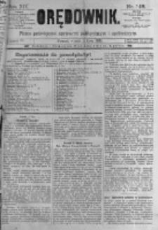 Orędownik: pismo poświęcone sprawom politycznym i spółecznym. 1889.07.02 R.19 nr148