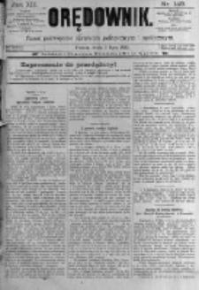 Orędownik: pismo poświęcone sprawom politycznym i spółecznym. 1889.07.03 R.19 nr149