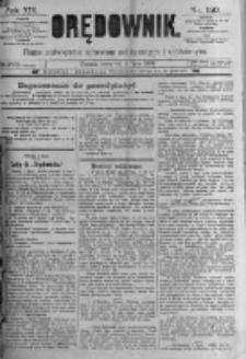 Orędownik: pismo poświęcone sprawom politycznym i spółecznym. 1889.07.04 R.19 nr150