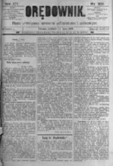 Orędownik: pismo poświęcone sprawom politycznym i spółecznym. 1889.07.14 R.19 nr159