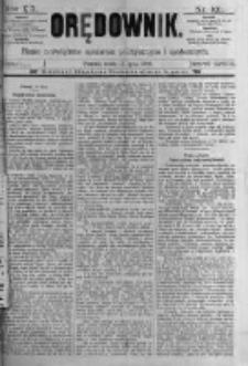 Orędownik: pismo poświęcone sprawom politycznym i spółecznym. 1889.07.17 R.19 nr161