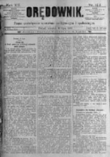 Orędownik: pismo poświęcone sprawom politycznym i spółecznym. 1889.07.18 R.19 nr162