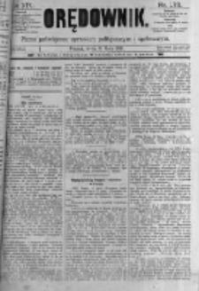 Orędownik: pismo poświęcone sprawom politycznym i spółecznym. 1889.07.31 R.19 nr173