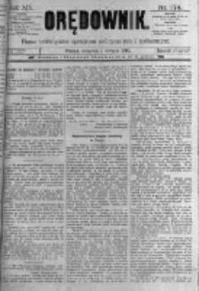 Orędownik: pismo poświęcone sprawom politycznym i spółecznym. 1889.08.01 R.19 nr174