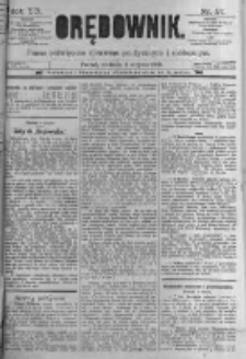 Orędownik: pismo poświęcone sprawom politycznym i spółecznym. 1889.08.04 R.19 nr177