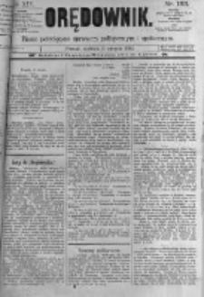 Orędownik: pismo poświęcone sprawom politycznym i spółecznym. 1889.08.11 R.19 nr183