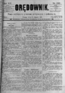 Orędownik: pismo poświęcone sprawom politycznym i spółecznym. 1889.08.21 R.19 nr190
