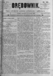 Orędownik: pismo poświęcone sprawom politycznym i spółecznym. 1889.08.22 R.19 nr191